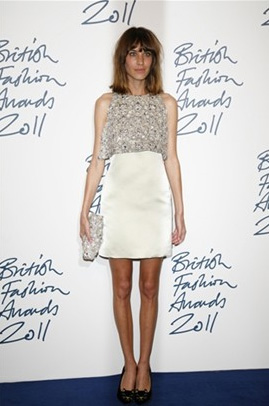 Alexa Chung, winner of the British Style Award